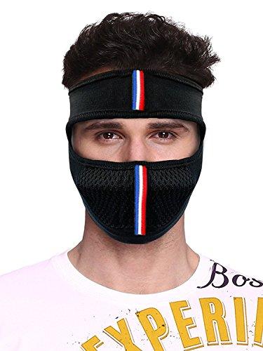 Suraj Metals Bike Riding and Cycling Anti Pollution Dust Sun Protecion Half Ninja Face Cover Mask (Black)