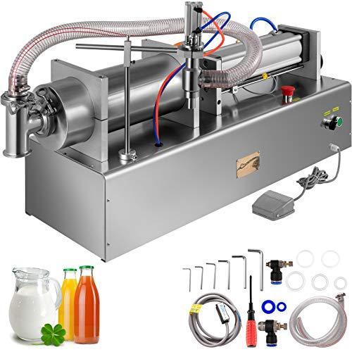 VEVOR Máquina de Llenadora de Líquido Neumática 1000-5000 ml Llenadora de Botella Neumática de Pistón Tamaño de Máquina 143 x 30 x 38 cm, Máquina de Llenado de Líquido, Presión Aplicable 0,4-0,6 MPa