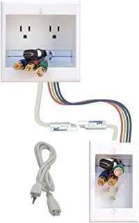 PowerBridge Solutions TWO-CK-16 Dual in-Wall Cable Management for Wall-Mount TVs, 16' PowerConnect Cable