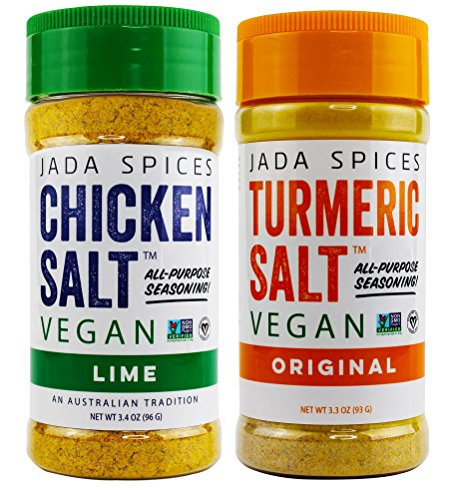 JADA Spices Chicken Salt Spice and Seasoning - Lime, Turmeric Salt - Vegan, Keto & Paleo Friendly - Perfect for Cooking, BBQ, Grilling, Rubs, Popcorn and more - Preservative & Additive Free