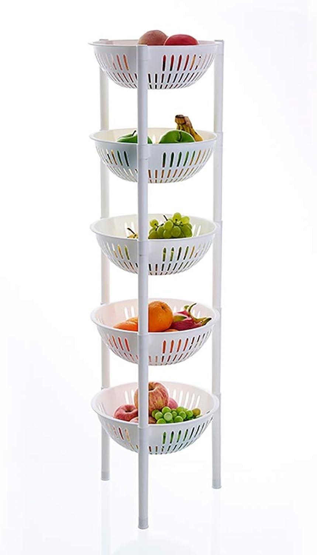3 4 5 Tier Kitchen Storage Trolley Plastic Fruit Vegetable Rack for Bathroom Multifunction Organizing (color   A, Size   28  28  107CM)
