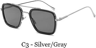 a1a0f5d938 TJJQT Gafas de Sol Gafas de Sol Hombre Iron Man Gafas Cuadradas