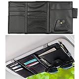 EcoNour Car Sun Visor Organizer | Multi-Pocket Car Organizer | Sunglasses Holder for Car | Visor Auto Interior Car Accessories | Cards, Pen Holder | Travel Accessories | Visor Document Holder