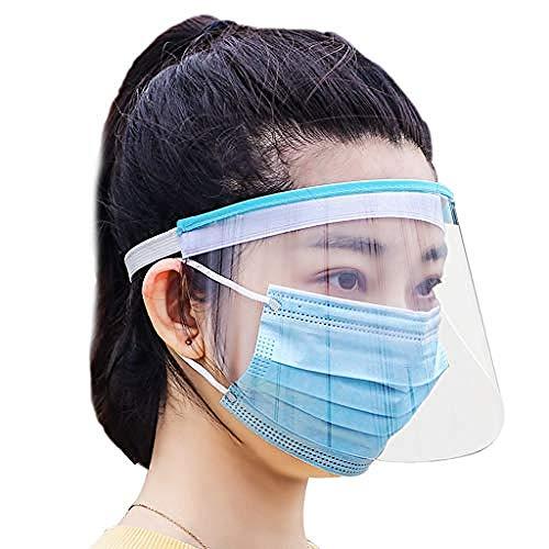 Preisvergleich Produktbild Transparent Face Shield Anti Oil Splash Hat Elastic Band Full Face Cover Schütz Visor for Werkstatt Kochen Putzen
