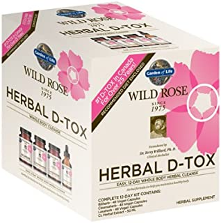 Garden of Life 12 Day Detox Cleanse - Wild Rose Herbal D-Tox Kit (12 Day)