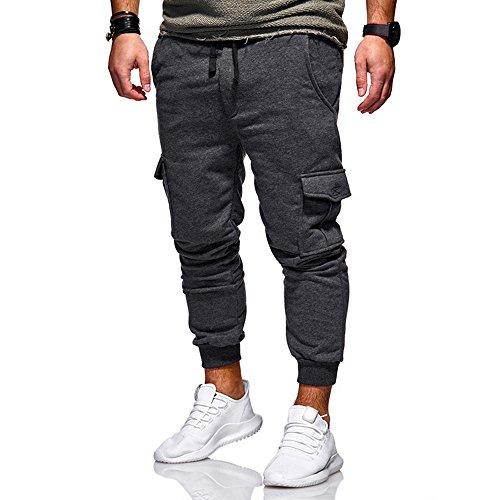 Pantalon FantaisieZ Homme Pantalon à Cordon de Sport Jogging Aptitude Pantalons de Survêtement Décontractée de Mode pour Hommes Pants