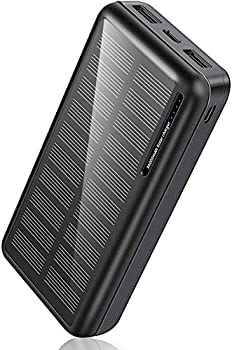 Minrise 30000mAh Solar Power Bank with 2 USB Outputs