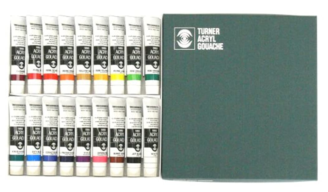 Turner Acrylic Paint Set Artist Acryl Gouache - Super Concentrated Vibrant Acrylics, Fast Drying, Velvety Matte Finish - [Set of 18   20 ml Tubes]