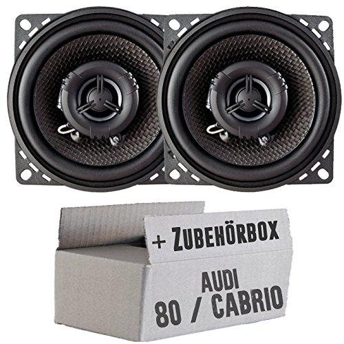 Ampire CP100-10cm Lautsprecher 2-Wege Koaxialsystem - Einbauset für Audi 80 | Cabriolet - JUST Sound Best Choice for caraudio