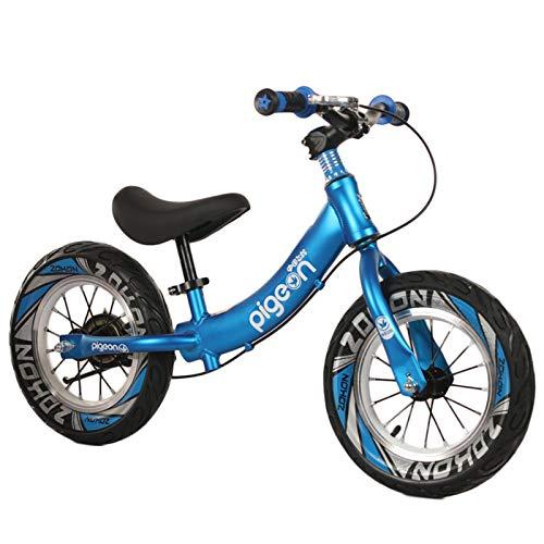"""HWF Bicicleta Sin Pedales Equilibrio 12\"""" Bicicleta de Equilibrio con Freno de Mano - Bicicleta sin Pedal para niñas, niños, niños pequeños de 2, 3, 4, 5, 6 años, Aluminio Ligero (Color : Blue)"""