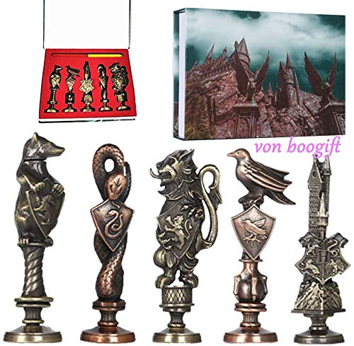 5 Stück Harry Potter Collectibles Siegel Retro Wachs Siegel Briefmarken Kit Geschenkidee Handwerk Stempel Sealing Maker Stick Geschenk Box Set