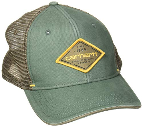 Carhartt Men's Force Mesh Back Graphic Cap, Gravel, OFA