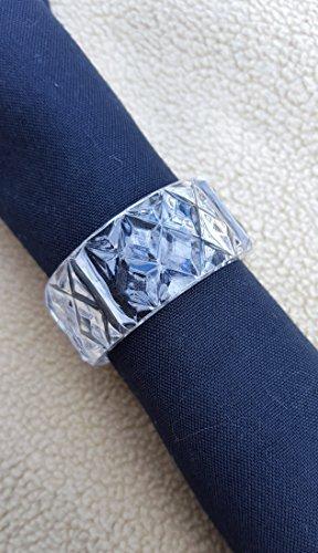 Plastic Napkin Holder Ring, Clear 2', Pack of 24