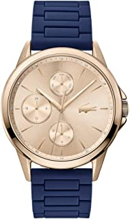 Lacoste Women's Rose Gold Dial Blue Silicone Watch - 2001110
