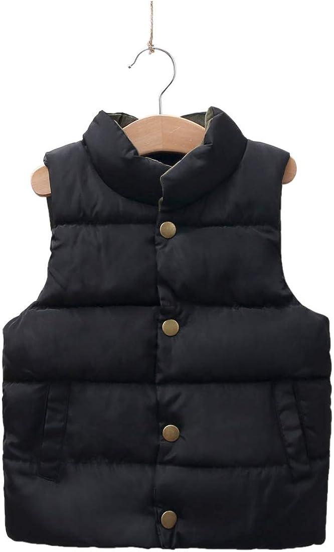 iooico Little Boys' Girls' Outerwear, Kids Ultra Light Down Vest Top (2T-7T)