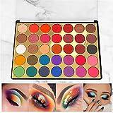 VERONNI Eye Makeup 35 Colorful Eyeshadow Palette 8 Shimmer 27 Matte colors High Pigment Brighten Warm Eye Shadow Palette (35SP)