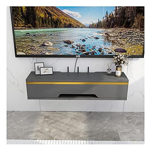 DRAGDS Soporte de Televisión Mueble Montado en la Pared Consola de Tv, Unidad de Entretenimiento Flotante para Sala de Estar, Centro de Entretenimiento, 4 Colores/a / 90 × 20 × 15Cm,a,110 × 20 × 15