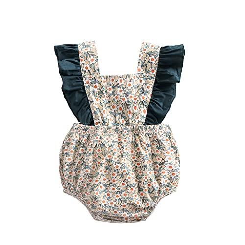 UMore Bebé Niñas Manga Corta Body Mono Algodón mameluco Pijama Conjuntos 0-24 Meses Recién Nacido Niñas Bebés Monos Moda Floral Verano Bebé Ropa