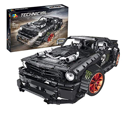 YZHM Tecnologia Sport Car Building Blocks Ford Mustang Modello di Auto, 1:10, 3168 Pezzi Toy Geable Compatibile con Lego