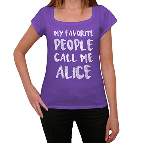 Alice Mujer Camiseta Púrpura Regalo De Cumpleaños