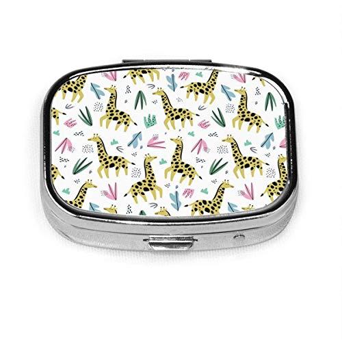 Cute Giraffe Fashion Square Pill Box Organizer Holder Travel Pill Vitamin Decorative Box Case Holder