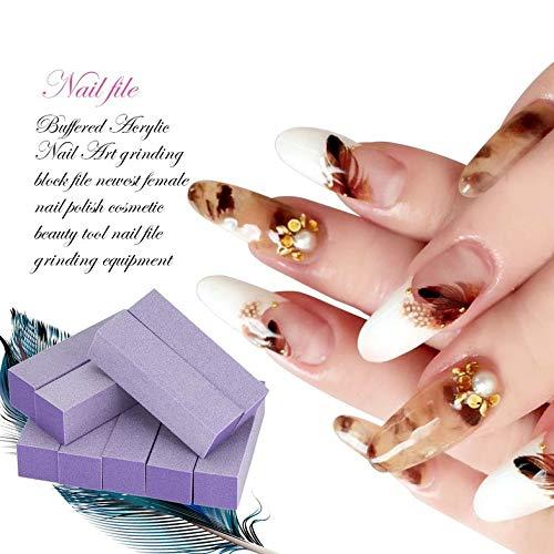 Puffer Schleifblöcke - 10 Stück Puffer Acryl Nail Art Schleifblock Dateien Neueste Frauen Nagellack Make-up Beauty Tools Nagelfeile Schleifausrüstung - Lila