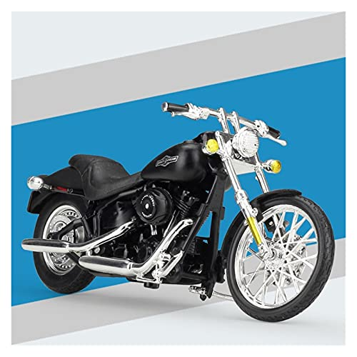 Boutique 1:18 Motocicleta Aleación Simulación En Miniatura para Harley 2008 FXSTB Modelo Tren Nocturno Colección Adultos Regalo Coche De Juguete