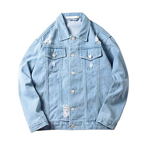 Xingsiyue Uomo Giacca di Jeans Vintage Classica Giubbotto Denim Giacca Panciotto Sottile