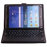J&H - Funda de Piel para Tablet Alcatel Pixi 3 (10), Funda de Teclado de Piel sintética con Teclado Bluetooth (TOUCHPAD Mouse) para Alcatel Pixi 3 (10)