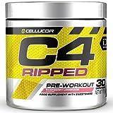 C4 Ripped - Suplemento en polvo para preentrenamiento - Tropical Punch | Bebida energética para antes de entrenar | 150mg de cafeína + beta alanina + extracto de granos de café verde | 30 raciones