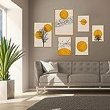 Juego de impresiones de pared, sin marco, 6 piezas, Premium Poster Cuadros Modernos Decoración de Pared para Salón, Dormitorio, Cocina Oficina