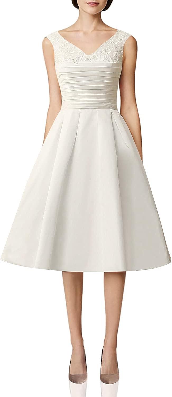 Wedding Dress Short Bride Dresses Vintage Bridal Gowns V Neck