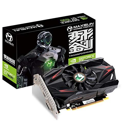 MAXSUN NVIDIA GEFORCE GT 1030 - Tarjeta gráfica ITX de 2 GB GPU GDDR5 mini ITX, diseño HDMI, DVI-D, sistema de refrigeración de un solo ventilador