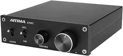 AIYIMA 300W Subwoofer Amplifier TPA3255 HiFi Mono Audio Power Amplifier Class D Amp NE5532 Sub Plate Amplifier with Bass Treble Adjust DC 24V-35V TPA3255(Black-300W)