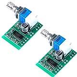 ARCELI Super Mini PAM8403 DC 5V 2 Canales USB Amplificador de Audio Digital Módulo 2 Control de Volumen 3W con Interruptor de potenciómetro Paquete de 2