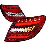 Luz trasera LED, Set W204, para Berlina 07-11, cristal rojo cromado con intermitenteLED con luz de posición LED, diseño de barra