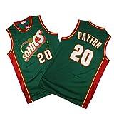 Maillot De Hombre - Gary Payton # 20 Oklahoma City Thunder Camiseta Sin Mangas De Baloncesto Fan Versión Retro Camiseta Suelta Y Transpirable,Xl180~185cm/85~95kg