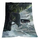 Fansu Kuscheldecke Flanell Decke, 3D Drucken Microfaser Flauschig Weich Warm Plüsch Wohndecke Fleece Tagesdecke Decke für Sofa & Bett (Wolf 8,200x150cm)