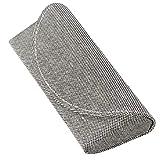 メイガン メガネケース コンパクト スリム セミハードケース Mサイズ Fabric ブラック 2229-01