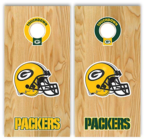 Set of Packers stickers for Cornhole Decal Green Bay