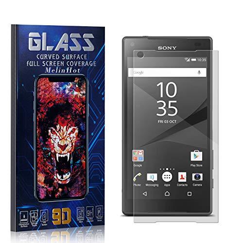 MelinHot Displayschutzfolie für Sony Xperia Z5 Compact, Anti Fingerabdruck, Ultra Dünn Blasenfrei Schutzfolie aus Gehärtetem Glas für Sony Xperia Z5 Compact, 1 Stück