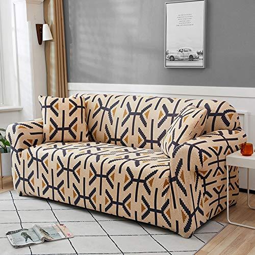 Funda de sofá Funda de sofá elástica geométrica para Sala de Estar Sofá de Esquina seccional Moderno Funda de sofá Funda de sofá Protector de Silla A18 1 Plaza
