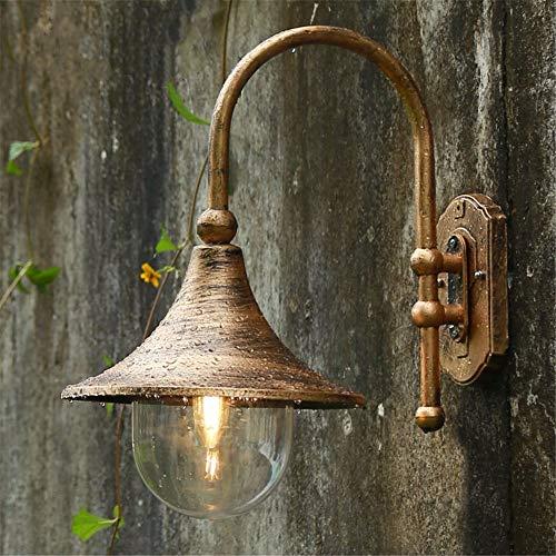Lámpara de pared con altavoz grande, lámpara de pared impermeable para jardín al aire libre, 47X40 CM, cobre