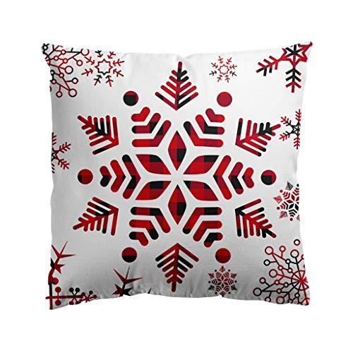 YINROM Merry Christmas Series Flax Soft Throw Pillow Case Decorative Cushion Cover Pillowcase Sofa Waist Throw Pad Cover Home Decoration Square 18' (A1)