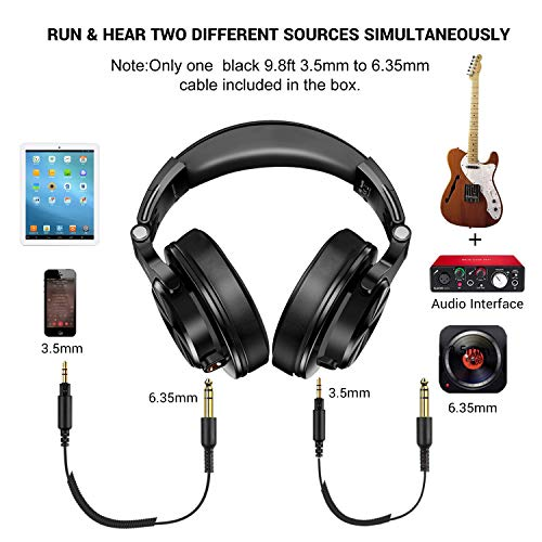 OneOdio A71 Over Ear Headsets with Boom Mic - PS4 Xbox One PC Laptop Wired Stereo Headphones with On-Line Volume