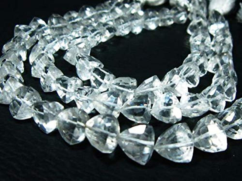 garantizado GEMS-WORLD BEADS GEMSTONE AAA Rock Crystal Crystal Crystal Faceted Trillion Briolette- 8  Strand -Stones measure- 8mm  productos creativos