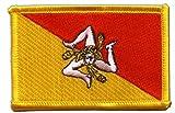 Flaggen Aufnäher Italien Sizilien Fahne Patch + gratis Aufkleber, Flaggenfritze®