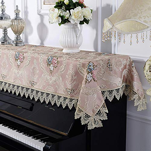 Big Save! BWAM-hom Piano Keyboard Dust Cover Universal Dustproof Half Cover Lace Piano Cover Europea...