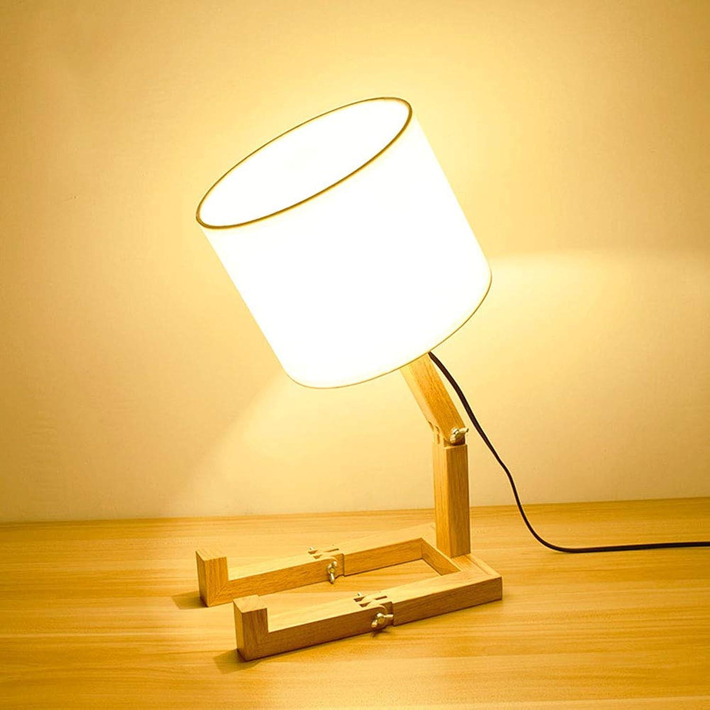 WngLei Tischlampe Tischlampe Tischlampe Roboter Falten Tischlampe Kreative Studie Lampe Schlafzimmer Nachttischlampe Massivholz Dekorative Lichter Wohnzimmer Lichter Hotel Zimmer Licht B07JZ7DR1F | Gemäßigten Kosten  71c9d3