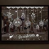 Accessoires de bricolage 3PCS / LOT Nouvelle fête de Noël en famille Noël Magasin Autocollants de verre...
